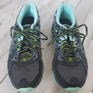 Asics Camo Turquoise Running Shoes